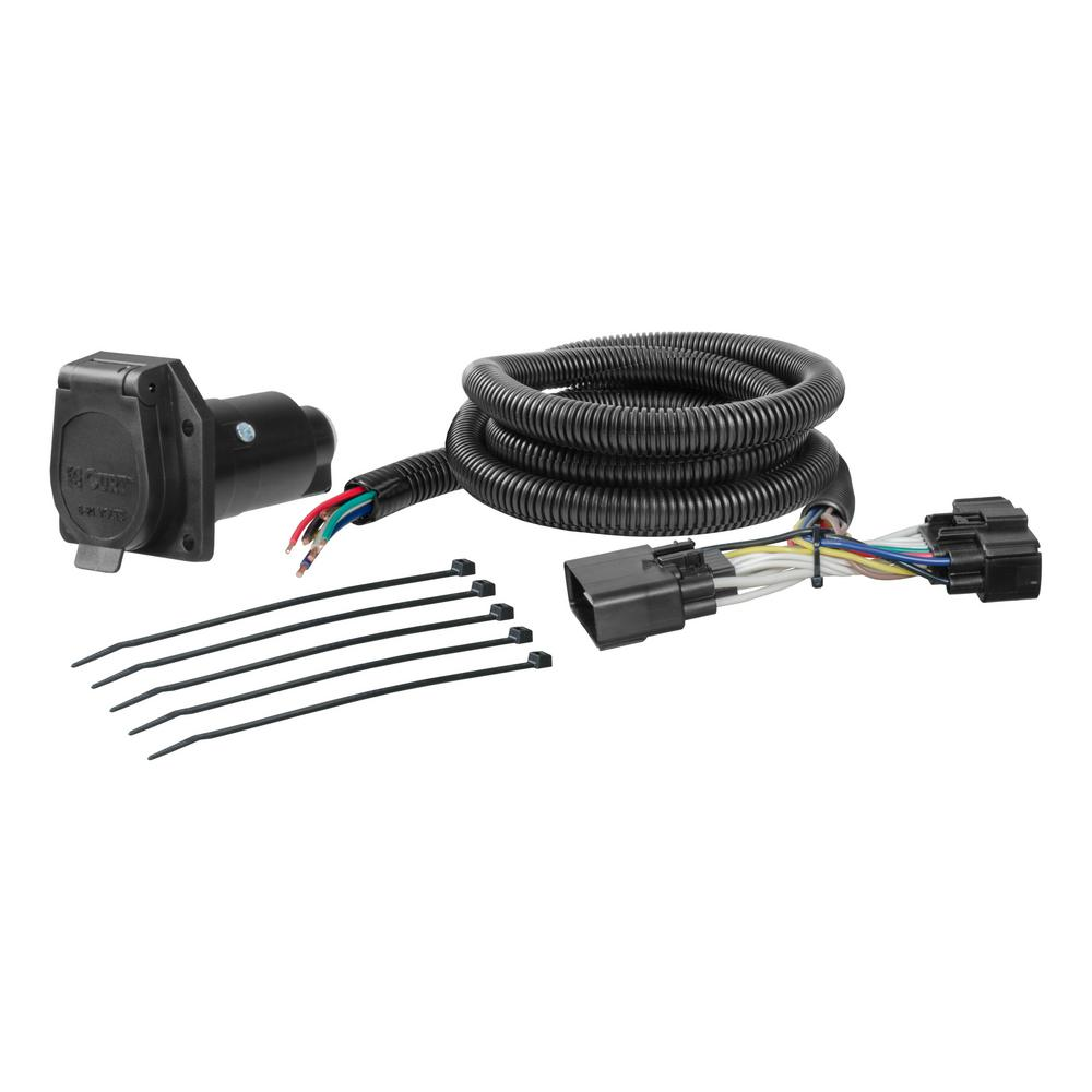 medium resolution of curt custom wiring harness 7 way rv blade output 56307 the home home trailer hitches hitch wiring curt trailer wiring adapters 7way