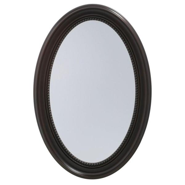 Pegasus 20 In. X 30 Recessed Surface-mount Oval Bathroom Medicine Cabinet With Deco