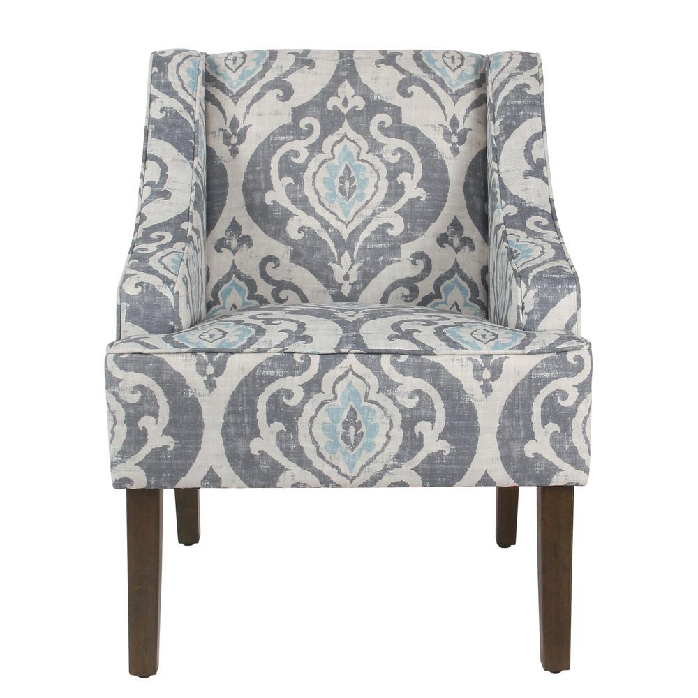 Damask Chair Homepop Global Damask Suri Blue Classic Swoop Accent Chair K6499