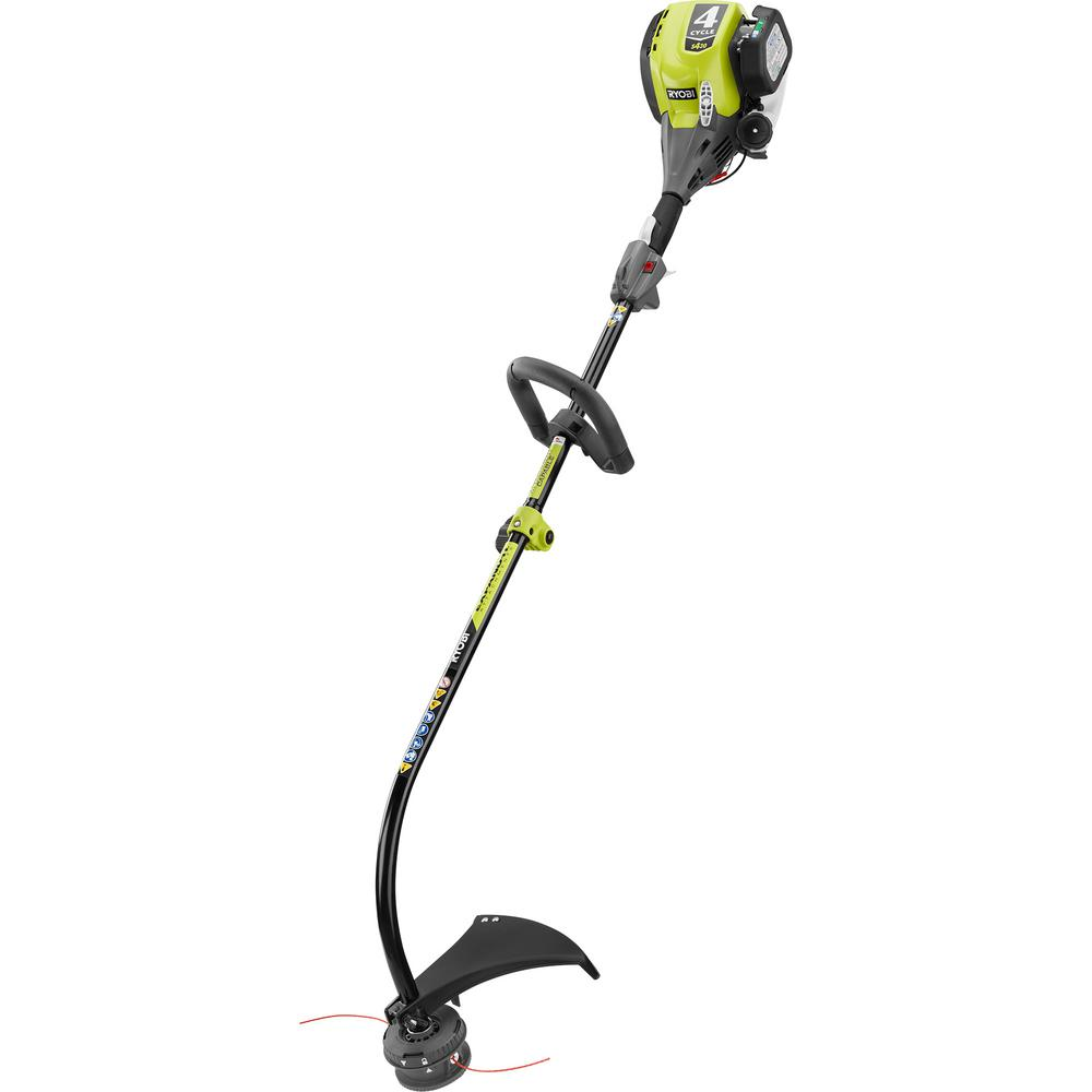 RYOBI 4-Cycle 30cc Attachment Capable Curved Shaft Gas