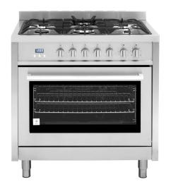cosmo commercial style 36 in 3 8 cu ft single oven dual fuel [ 1000 x 1000 Pixel ]