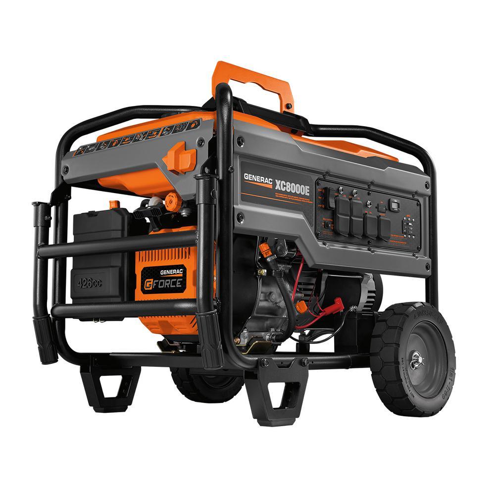 medium resolution of generac 7 500 watt gasoline powered electric start portable generator 5943 the home depot