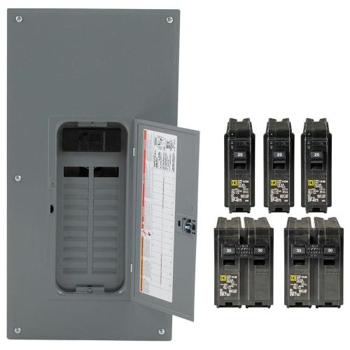 small resolution of square d homeline 200 amp 20 space 40 circuit indoor main breaker plug