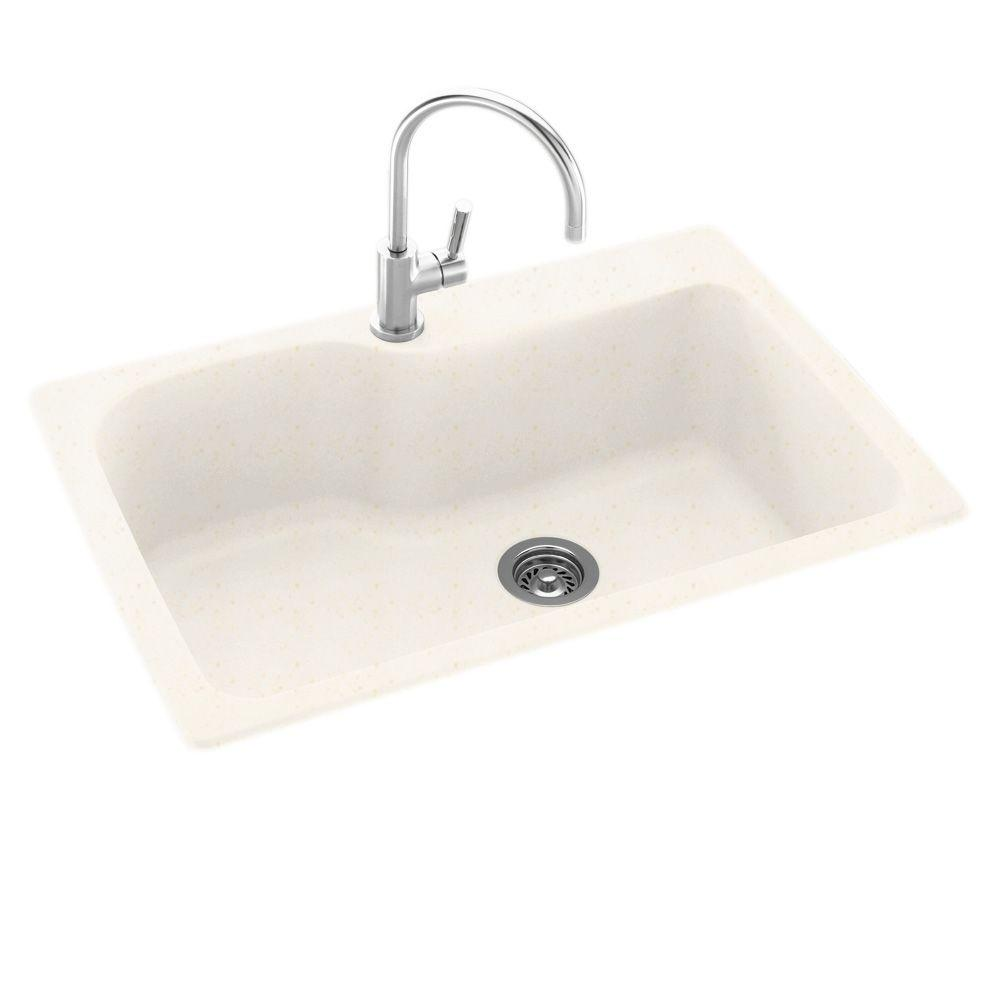 swanstone single bowl kitchen sink window decoration ideas drop-in/undermount composite 33 in. 1-hole ...