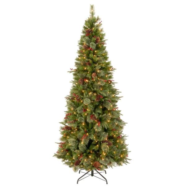 National Tree Company 7-1 2 Ft. Feel Real Colonial Slim