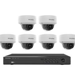 8 channel full hd ip indoor outdoor surveillance 4tb nvr system 6 dome 1080p cameras poe ready motion recording [ 1000 x 1000 Pixel ]