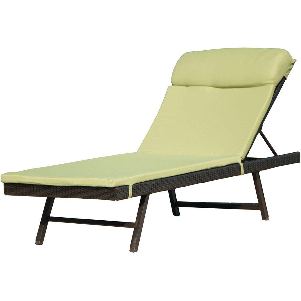 wicker chaise lounge chairs outdoor ikea desks and hanover orleans 2 piece metal frame patio chair woven avocado green cushion