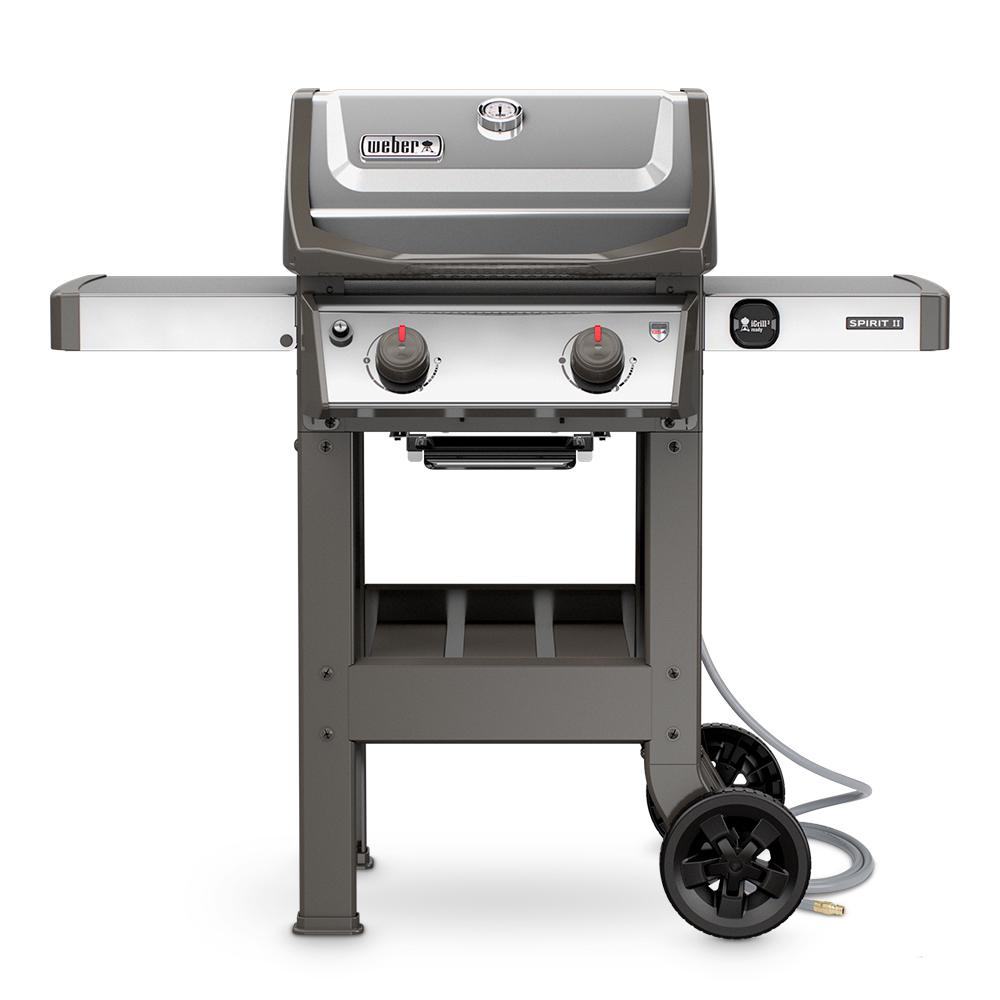 Weber Spirit II S210 2Burner Natural Gas Grill in Stainless Steel48000001  The Home Depot