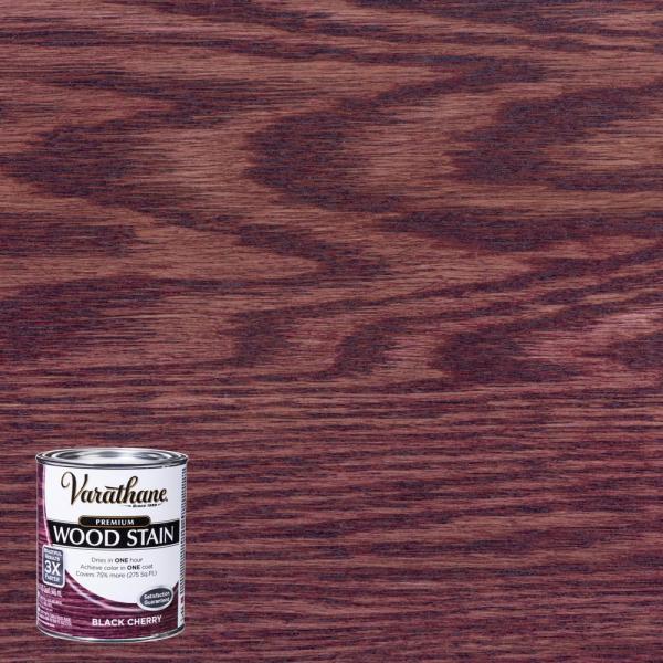 Varathane 1 Qt. Black Cherry Premium Fast Dry Interior Wood Stain-266165 - Home Depot