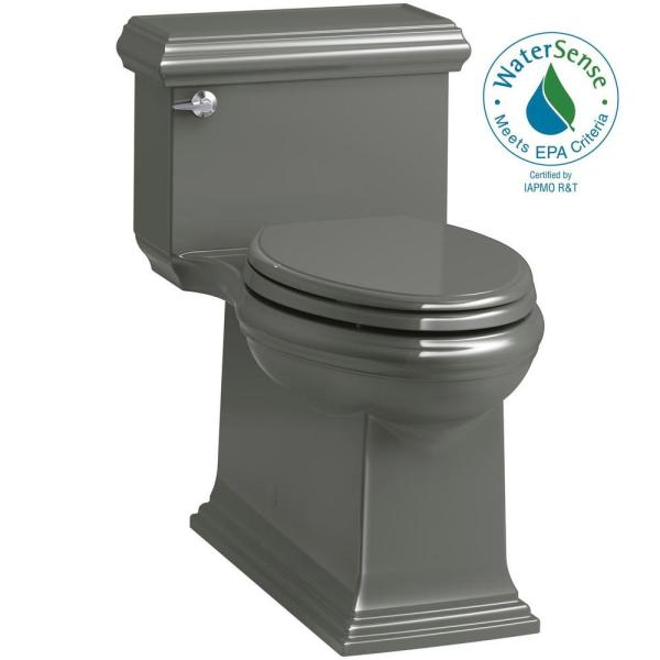 Kohler Memoirs Classic 1-piece 1.28 Gpf Single Flush Elongated Toilet In Thunder Grey Seat
