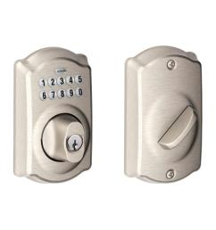 camelot satin nickel keypad electronic deadbolt [ 1000 x 1000 Pixel ]