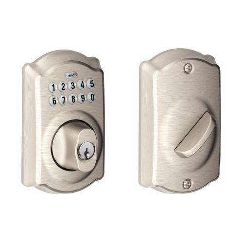 small resolution of camelot satin nickel keypad electronic deadbolt