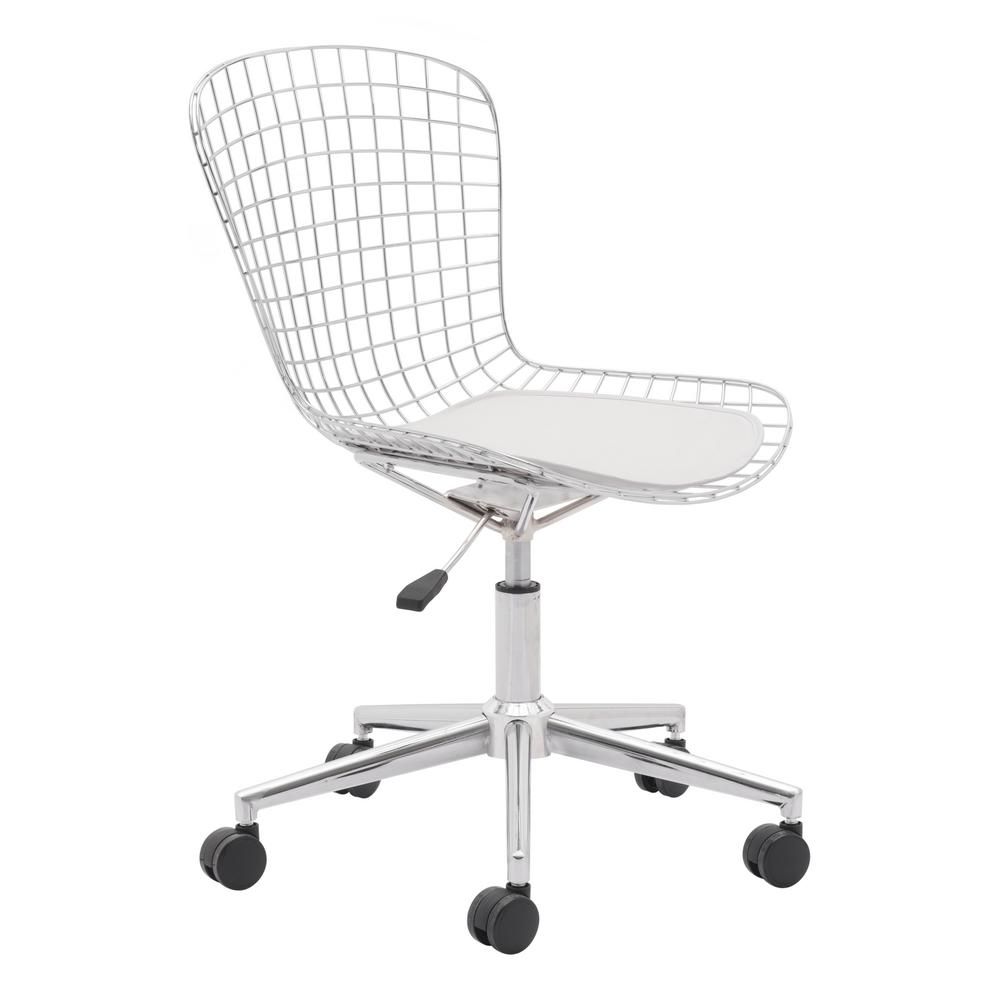 chair for office use mickey mouse and table zuo wire chrome 100948 the home depot