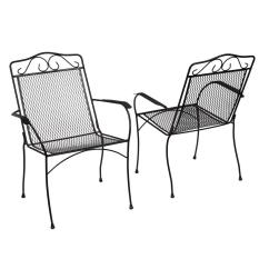 Black Metal Patio Chairs High Stool Chair Dimensions Hampton Bay Nantucket Outdoor Dining 2 Pack 6990700