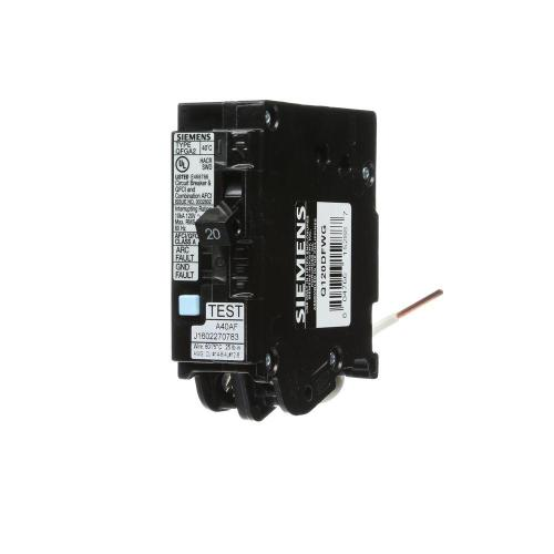 small resolution of 20 amp single pole wireguide dual function afci gfci circuit breaker