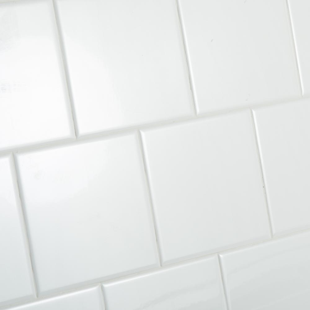 Daltile Restore Bright White 6 in. x 6 in. Ceramic Wall
