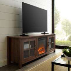 Walnut Furniture Living Room How Should I Decorate My Quiz Farmhouse The Home Depot Dark Fireplace Wood Tv Stand