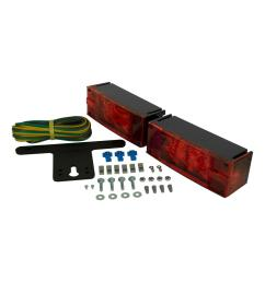 trailer lamp kit 7 7 8 in led low profile submersible rectangular lights [ 1000 x 1000 Pixel ]