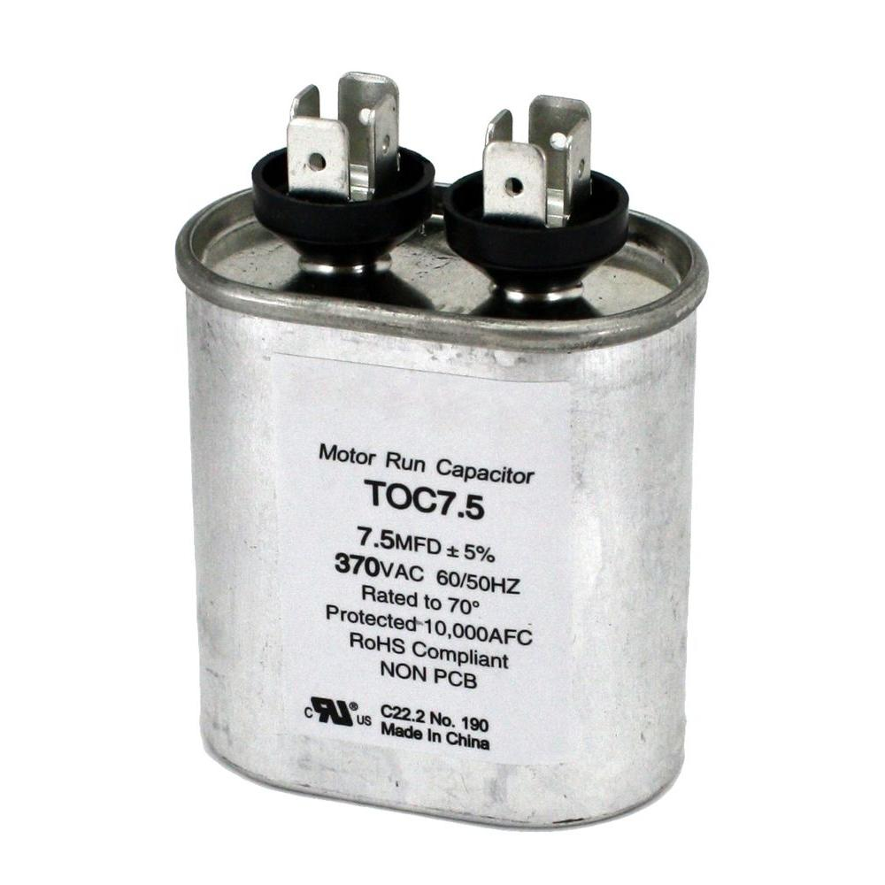 hight resolution of packard 370 volt 7 5 mfd motor run oval capacitor