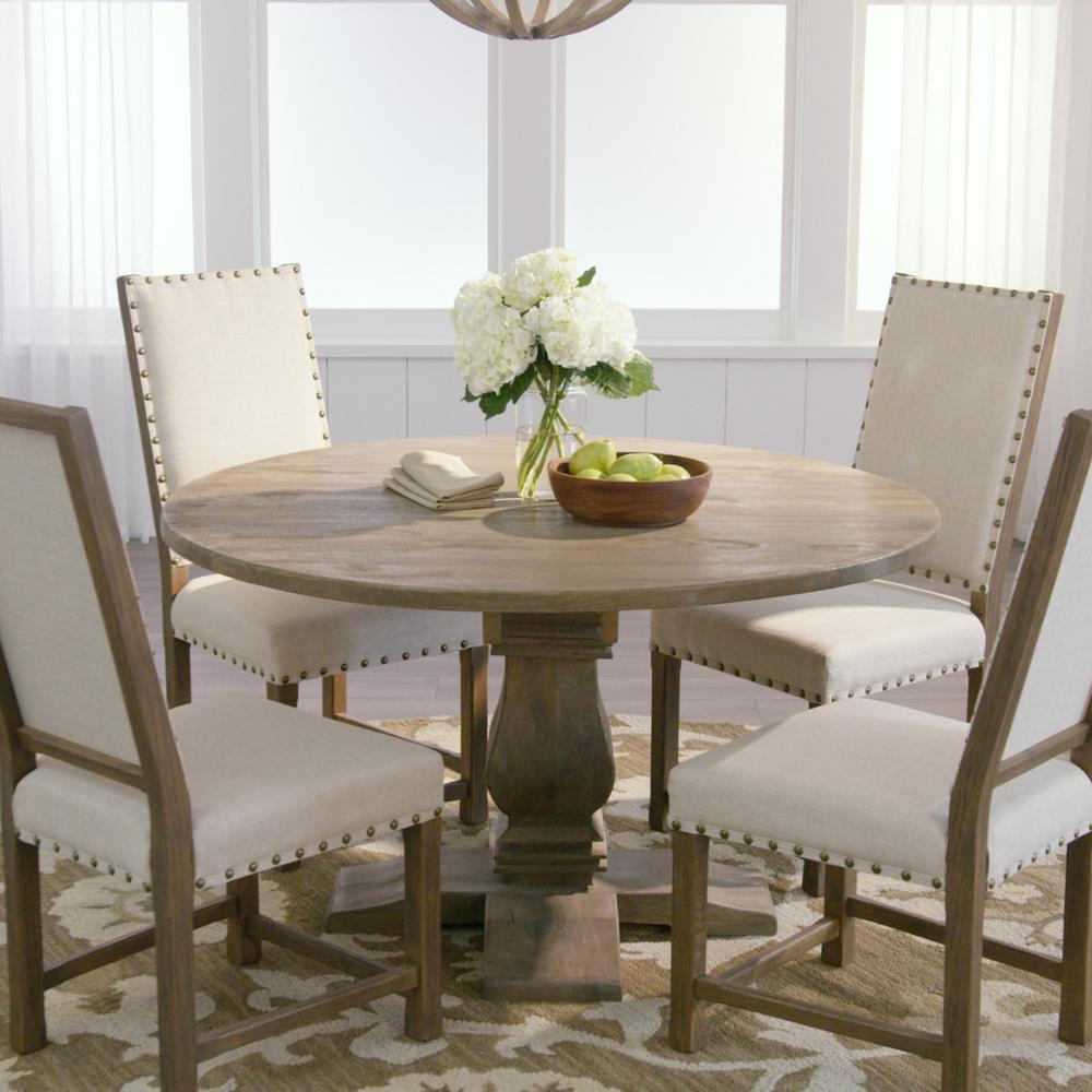 kitchen and dining room tables portable islands home decorators collection aldridge antique grey round table