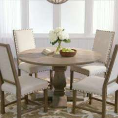 Kitchen Table And Chair Portable High Cloth Dining Room Furniture The Home Depot Aldridge Antique Grey Round
