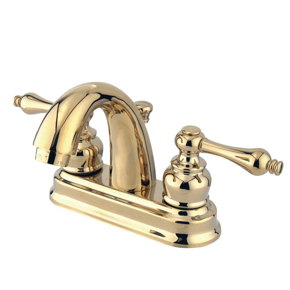 kingston brass restoration 4 in. centerset 2-handle mid-arc