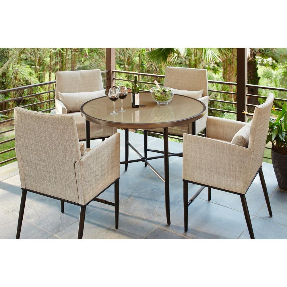 Hampton Bay Aria 5Piece Patio High Dining SetFCS80223ST