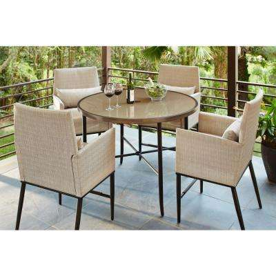 bar height outdoor chairs modern recliner melbourne 2 up dining sets furniture the home depot aria