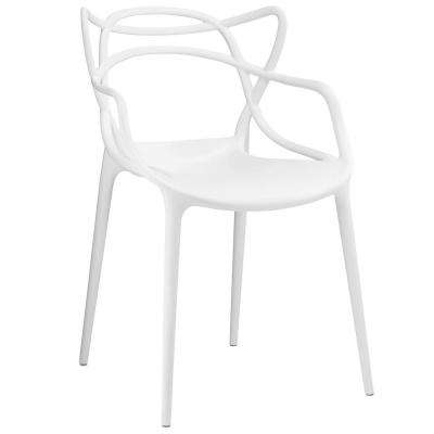 white plastic dining chairs amazon chair covers mid century modern kitchen entangled arm