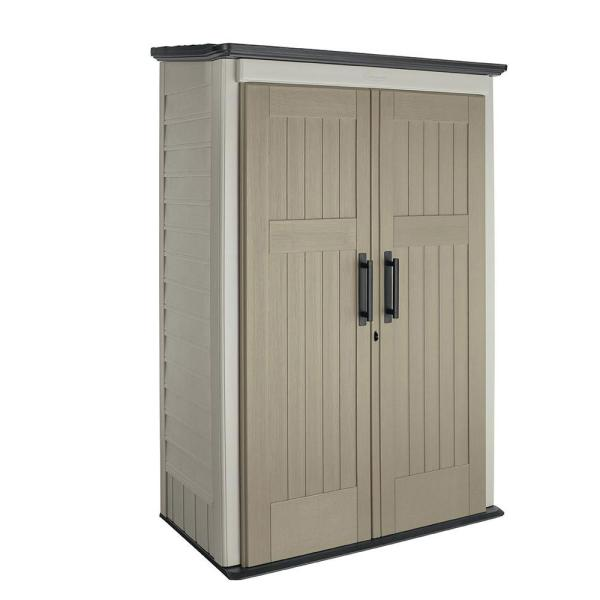 Rubbermaid 4 Ft. X 2 5 In. Large Vertical Storage Shed-1887156 - Home Depot