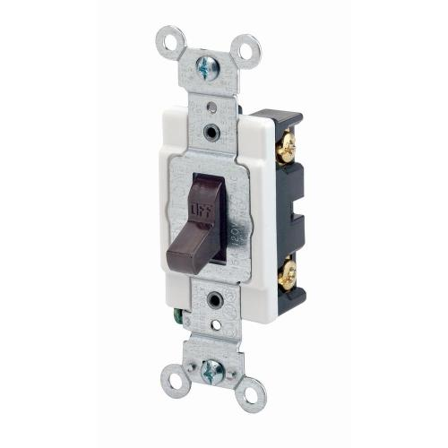 small resolution of 15 amp commercial grade single pole back wired toggle switch brown