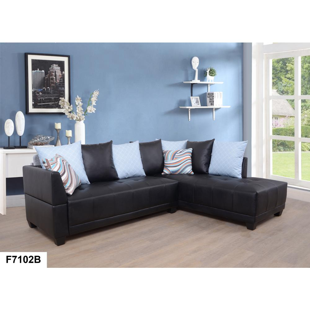 2 piece brown leather sofa chair company jobs dark faux left sectional set sh7102b the home depot