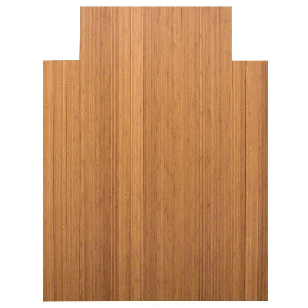 small chair mat fishing trolley anji mountain standard 5 mm natural light brown 36 in x 48 bamboo