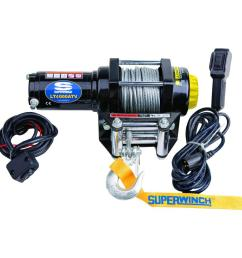 superwinch lt4000 12 volt atv winch with 50 foot steel cable 4  [ 1000 x 1000 Pixel ]
