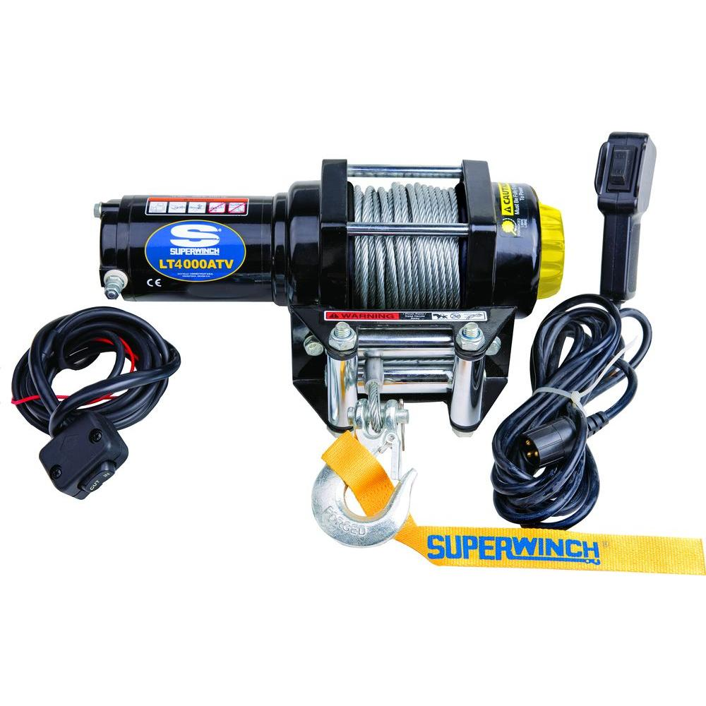 medium resolution of superwinch lt4000 12 volt atv winch with 50 foot steel cable 4