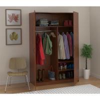 Ameriwood Wardrobe Storage Closet with Hanging Rod and 2 ...