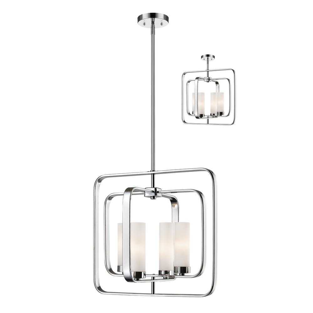 OVE Decors Ashcombe II 4-Light Chrome Pendant-Ashcombe II