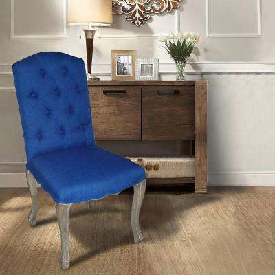 dining chair upholstery cheap kitchen chairs set of 4 lux home kerri cobalt linen 2