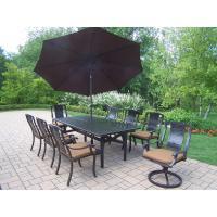 11-Piece Aluminum Outdoor Dining Set with Sunbrella Brown ...