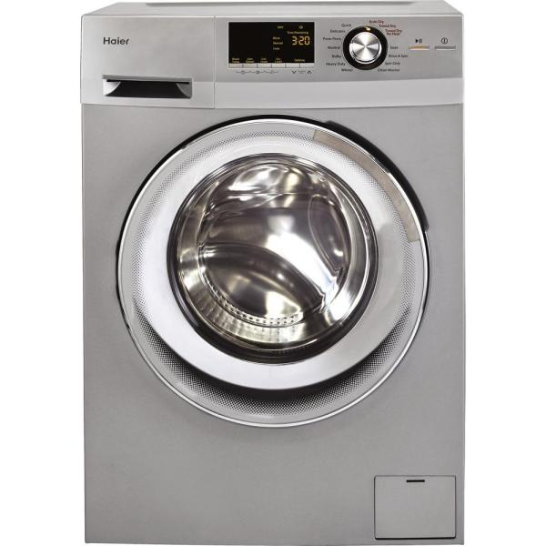 Haier 2.0 Cu. Ft. Silver High-efficiency 120 Volt Ventless Electric Washer Dryer Combo