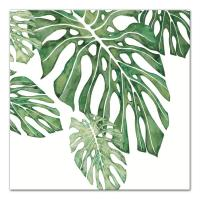 DESIGNS DIRECT 16 in. x 16 in. ''Green Tropical Leaves ...
