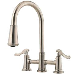 Two Handle Kitchen Faucet Aqua Utensils Pfister Ashfield 2 Pull Down Sprayer In Brushed Nickel