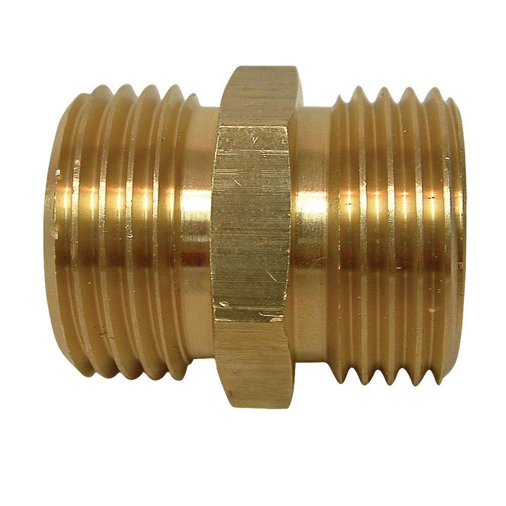 home depot faucets kitchen moen sink drain parts everbilt lead-free brass garden hose adapter 3/4 in. mgh ...