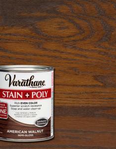 Varathane qt american walnut stain and polyurethane case of also rh homedepot