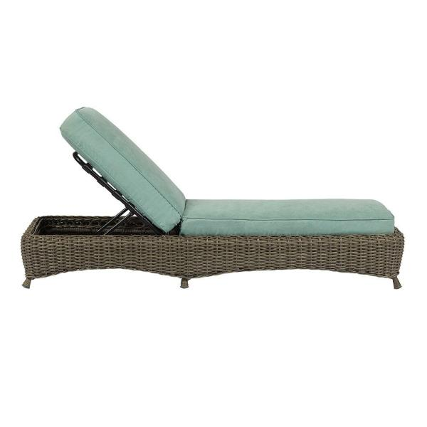 Lake Adela Weathered Gray Patio Chaise Lounge with Surf ...