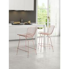 Kitchen Bar Stool Commercial Floor Coverings Zuo 24 In Rose Gold Set Of 2 100363 The Home Depot