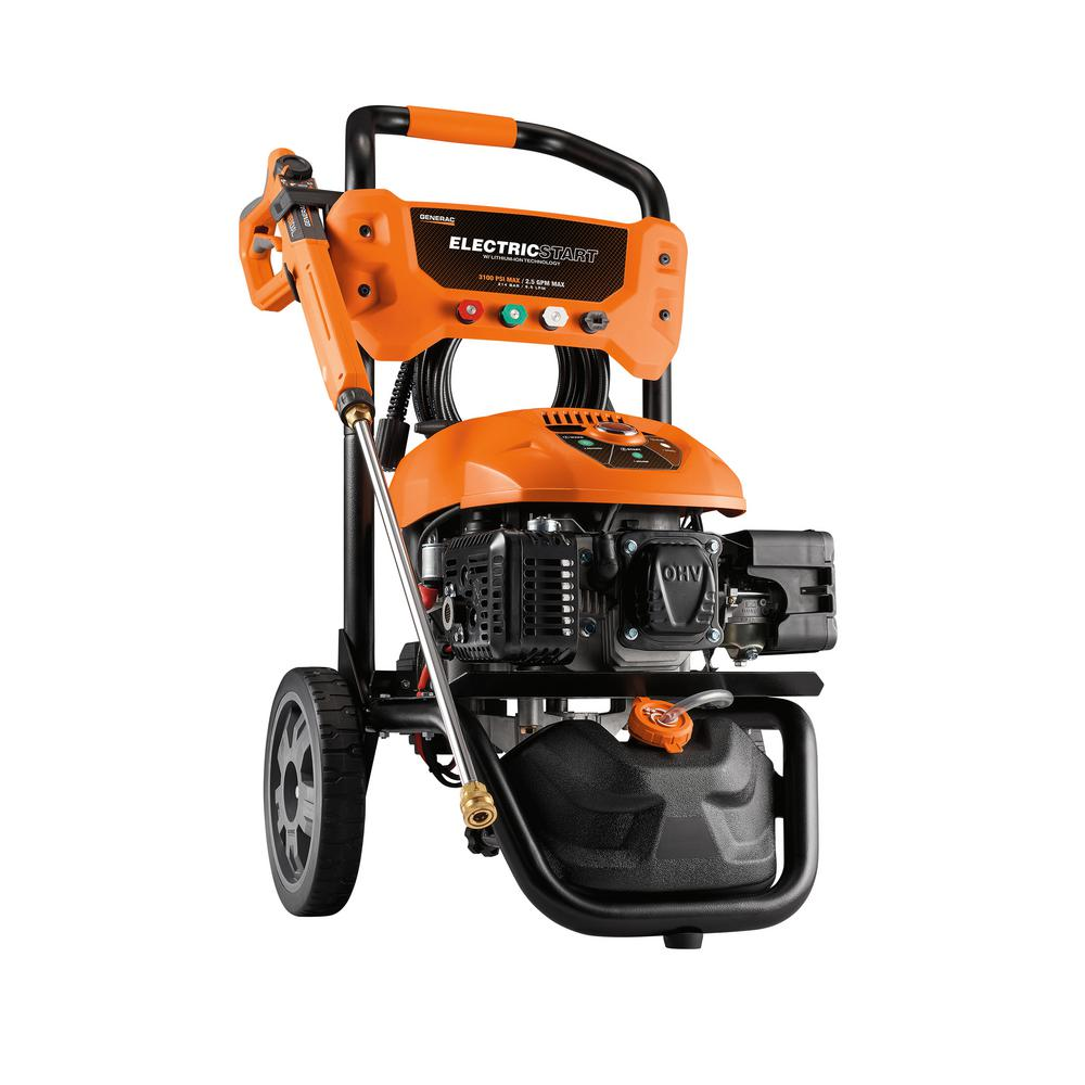 hight resolution of 3100 psi 2 5 gpm electric start residential pressure washer kit