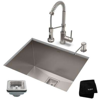24 kitchen sink single bowl stainless in sinks the home depot pax all one undermount steel