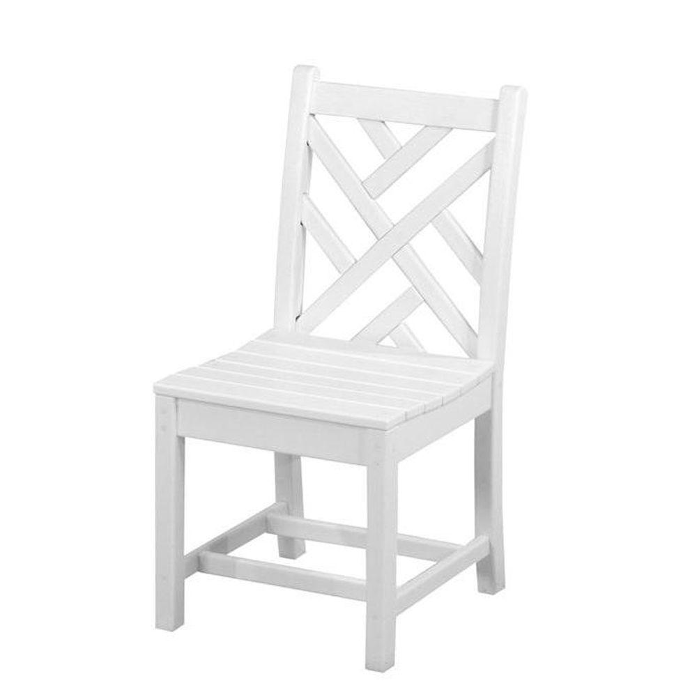 chippendale dining chair covers without sashes polywood white all weather plastic outdoor side