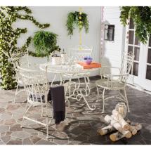 Safavieh Thessaly Antique White 5-piece Metal Outdoor